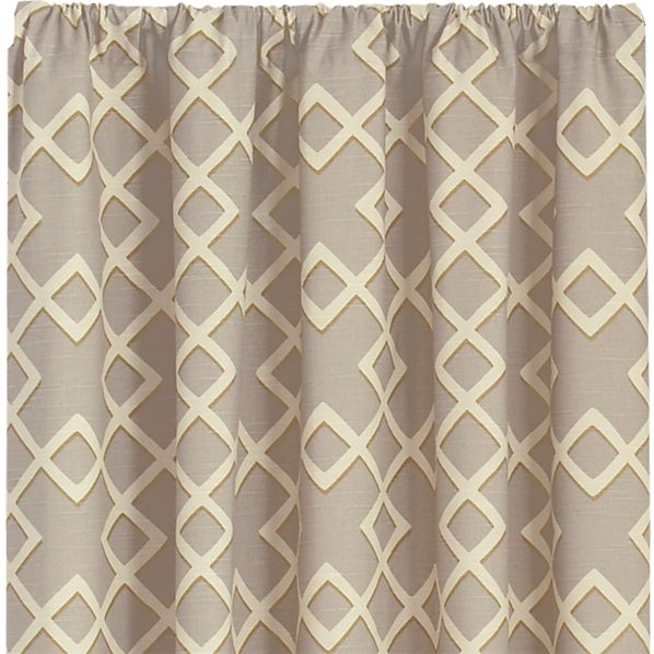 Shadow Trellis Citrine 50x84 Curtain Panel