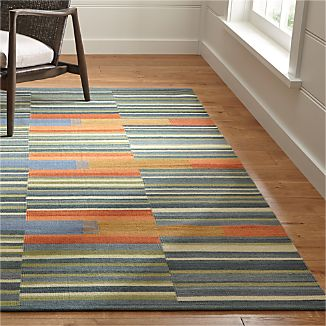 Sharif Striped Wool Dhurrie Rug