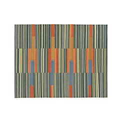 Sharif Striped Wool Dhurrie 8'x10' Rug