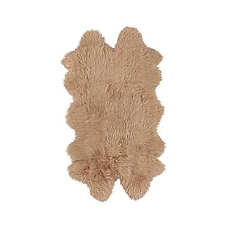 "Sheepskin Almond 21""x37"" Throw/Rug"