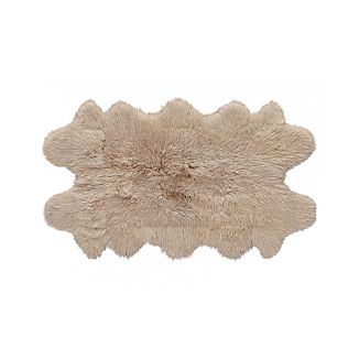 "Sheepskin Almond 42""x72"" Throw/Rug"