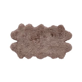 "Sheepskin Taupe 21""x37"" Throw/Rug"