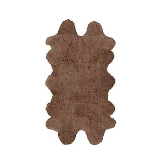 "Sheepskin Taupe 42""x72"" Throw/Rug"