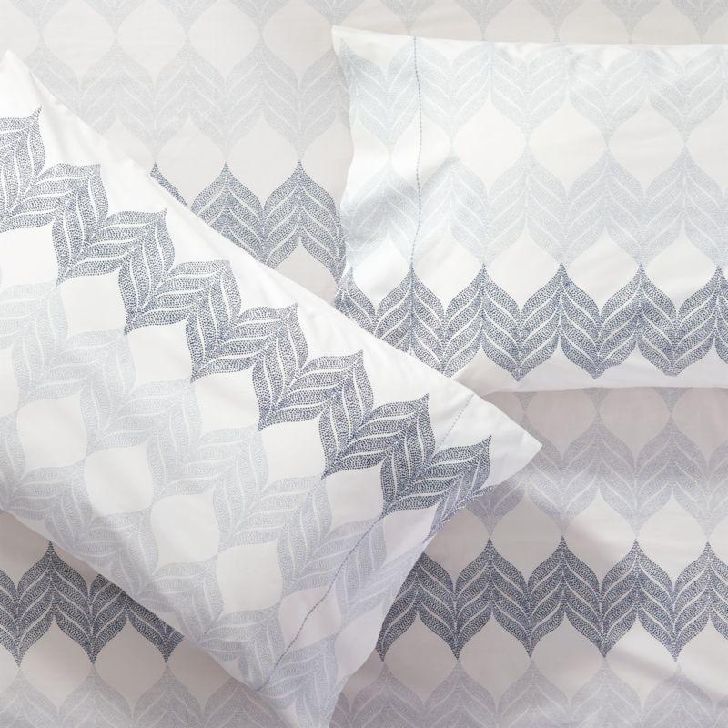 Set of 2 Sheesha Leaf Standard Pillow Cases