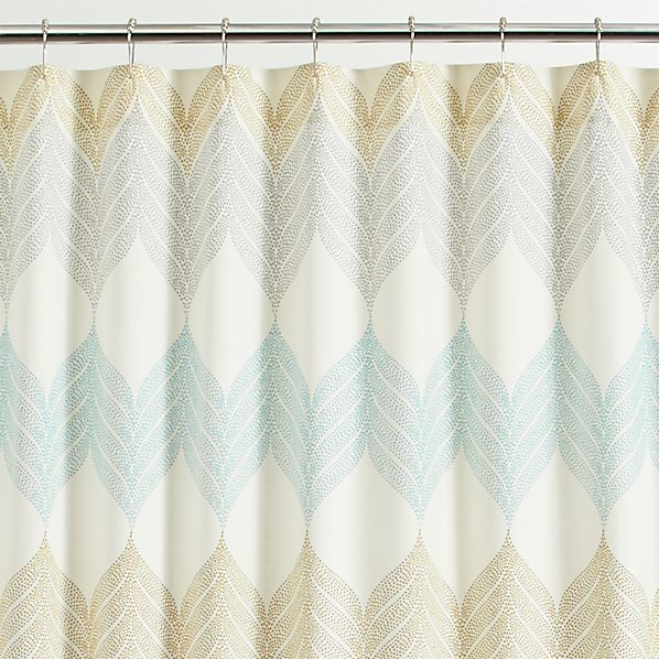 sheesha leaf shower curtain in shower curtains rings crate and barrel. Black Bedroom Furniture Sets. Home Design Ideas