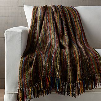 Shelby Sage Green Striped Throw