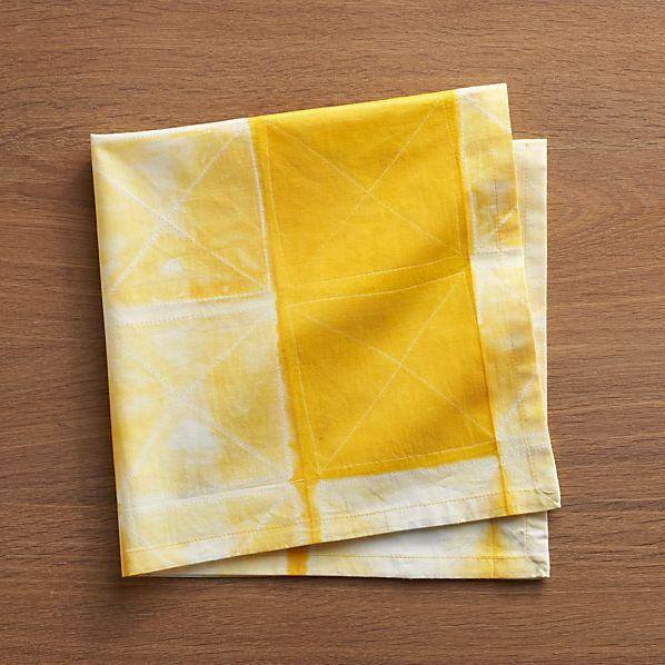 Shibori Yellow Napkin