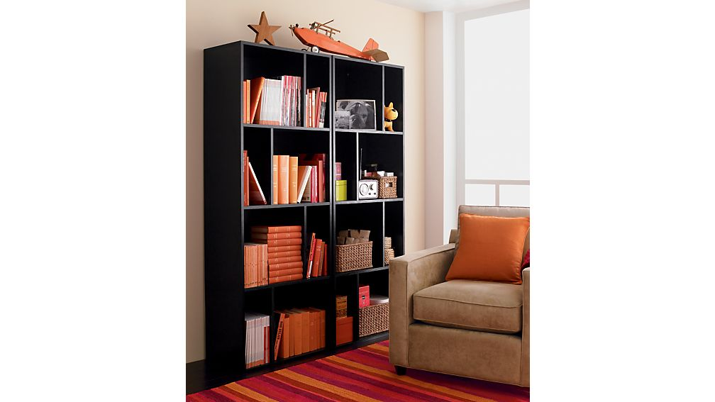 "Shift Black 74"" Bookcase"
