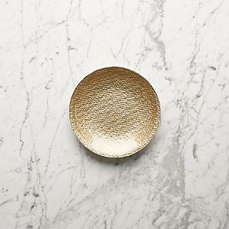 Shimmer Gold Glass Appetizer Plate