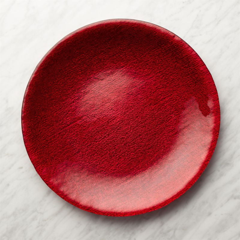 Red Shimmer Platter/Charger Plate