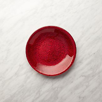 Red Shimmer Salad Plate