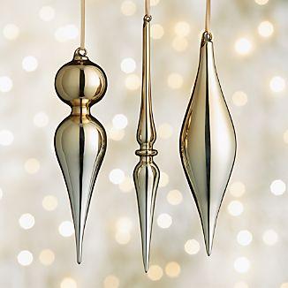 Shiny Gold Drop Ornaments