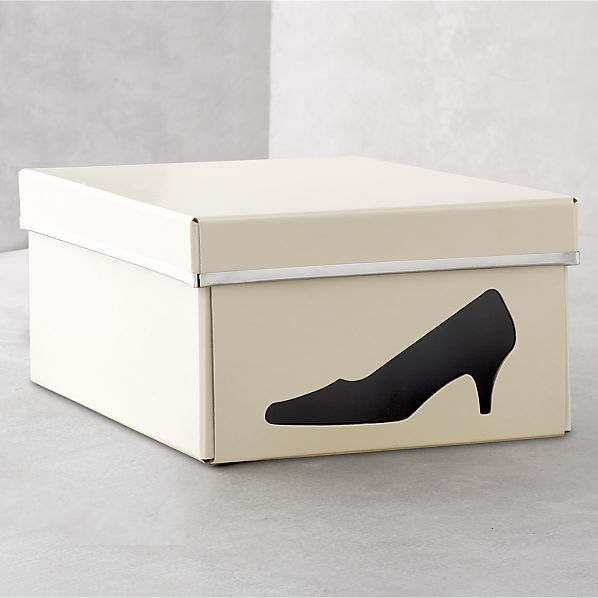 Bigso ® Ivory Shoe Box with Icon