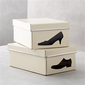 Bigso® Ivory Shoe Box with Icon - Bigso®...