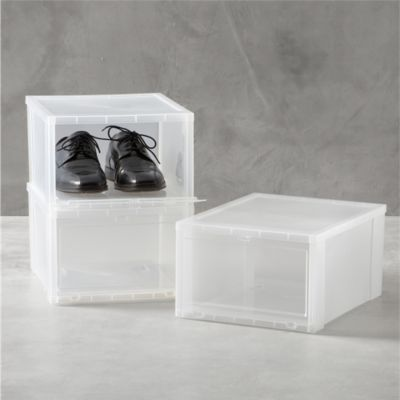 Large Clear Shoe Box