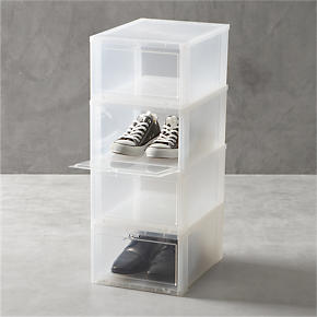 Large Clear Shoe Boxes Set of Four - Set of...