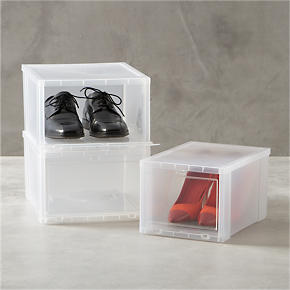 Clear Shoe Boxes - Large Clear Shoe Box