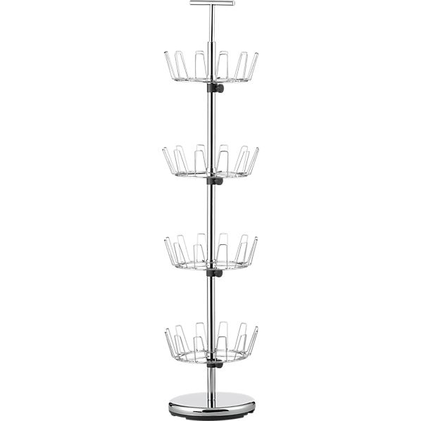 4-Tier Chrome Shoe Rack
