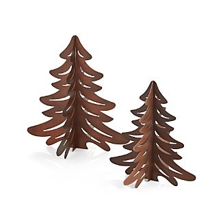 Standing Cut Metal Trees