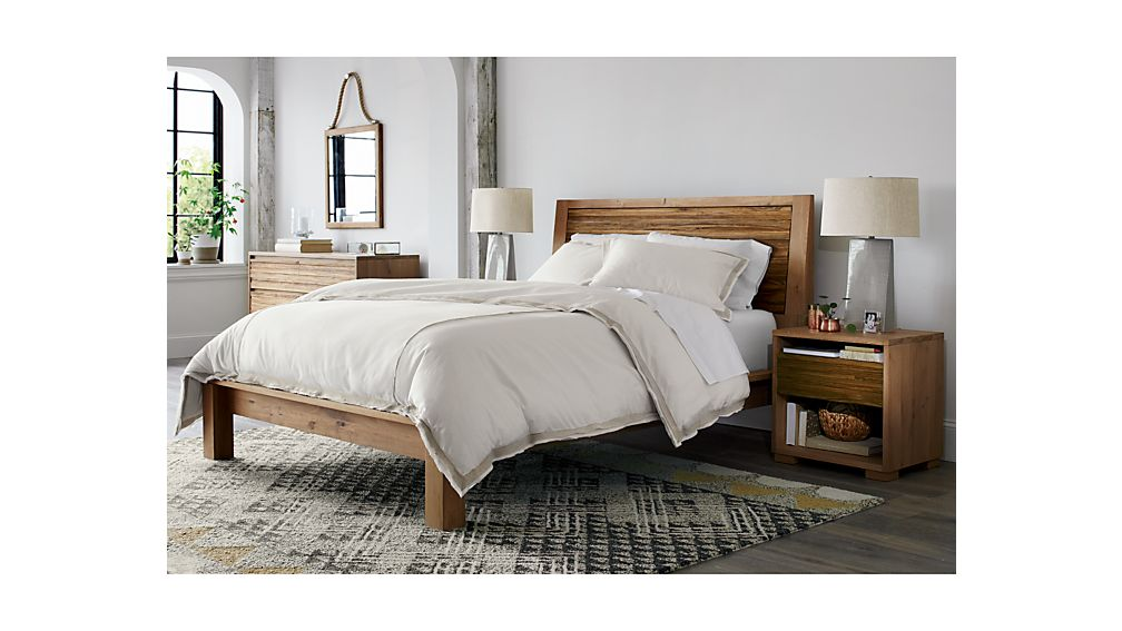 Sierra king bed crate and barrel - Crate barrel bedroom furniture ...