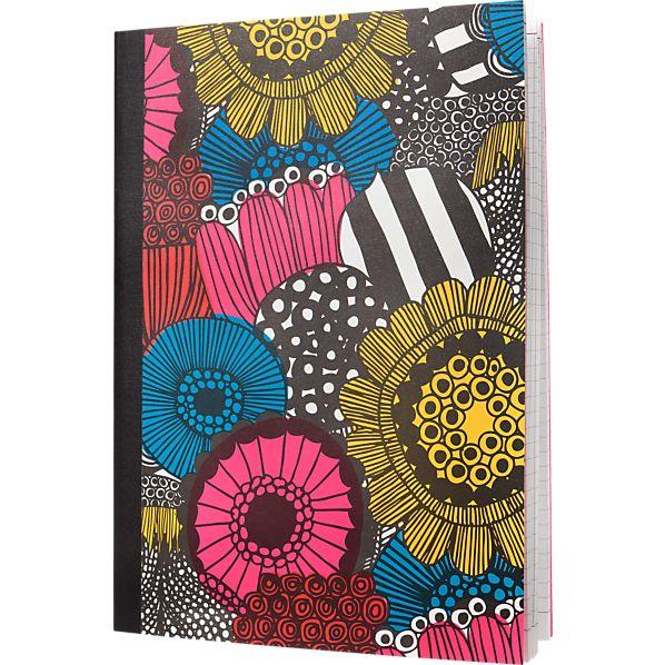 Marimekko Siirtolapuutarha Multicolor Notepad