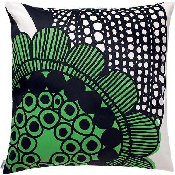 """Marimekko Siirtolapuutarha Green 20"""" Pillow"""