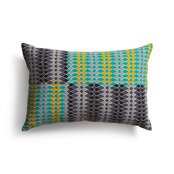 """Sikina 18""""x12"""" Pillow with Feather-Down Insert"""