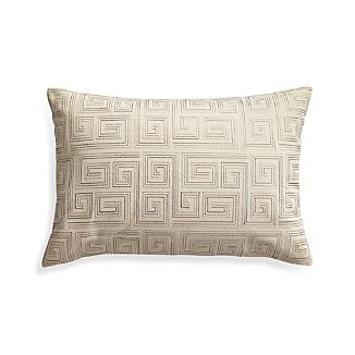"Silas Ivory 24""x16"" Pillow with Down-Alternative Insert"