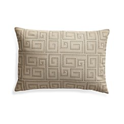 "Silas Khaki 24""x16"" Pillow with Down-Alternative Insert"