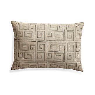 """Silas Khaki 24""""x16"""" Pillow"""