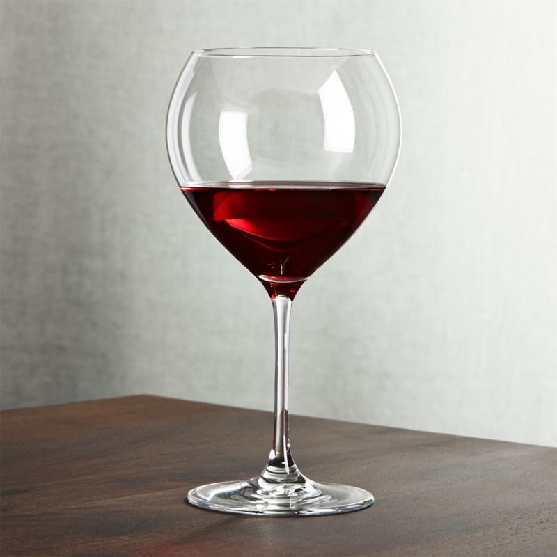 Silhouette Red Wine Glass