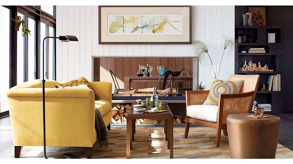 Blake Grey Wash Chair with Fabric Cushion