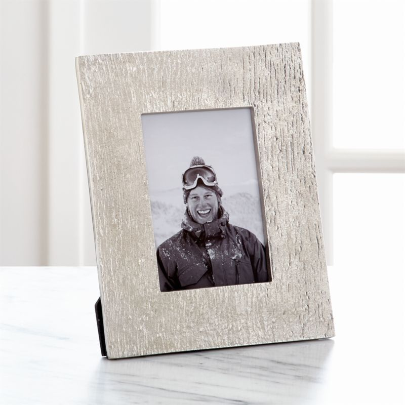 "Silver Bark 4""x6"" Picture Frame"