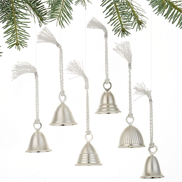 Set of 6 Bell Ornaments