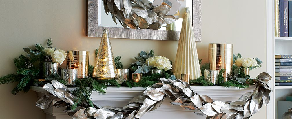 christmas mantel decorating ideas crate and barrel. Black Bedroom Furniture Sets. Home Design Ideas