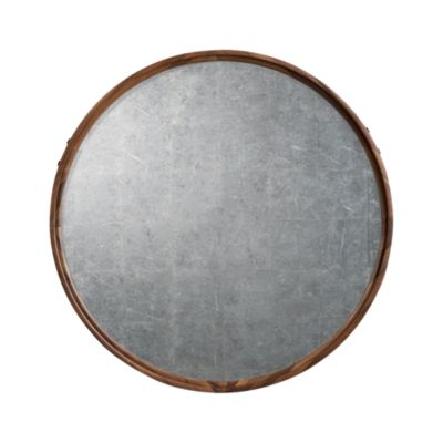 Silver Leaf Mirror with Wood Frame