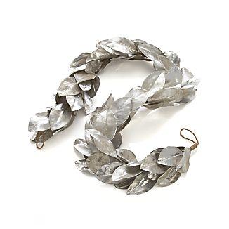 Silver Magnolia Artificial Garland