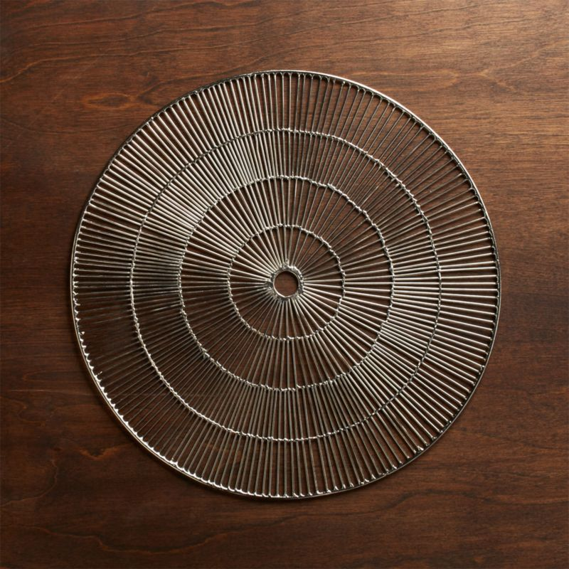 Round Silver Placemat Crate And Barrel