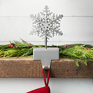 Silver Snowflake Christmas Stocking Hook