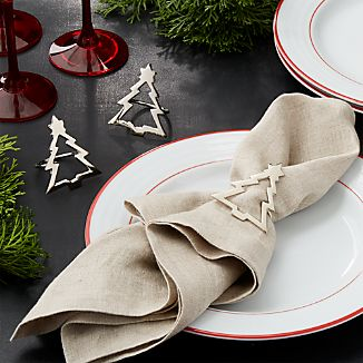 Silver Christmas Tree Napkin Ring