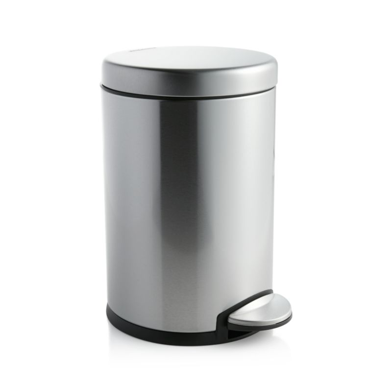simplehuman ® 1.2-Gallon Stainless Steel Step Can