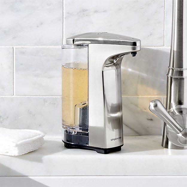Simplehuman 174 Brushed Sensor Soap Dispenser Crate And Barrel
