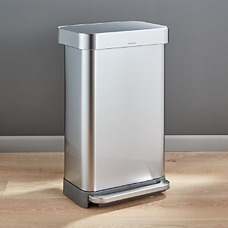 simplehuman ® 45-Liter/12-Gallon Stainless Steel Step Kitchen Trash Can