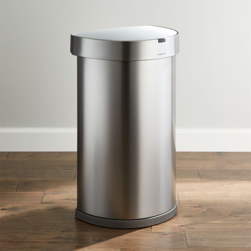 Simplehuman 174 45 Liter 12 Gallon Sensor Trash Can Crate