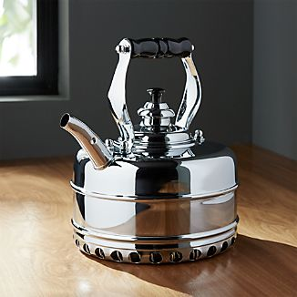 Simplex Heritage No. 4 Chrome Gas Tea Kettle