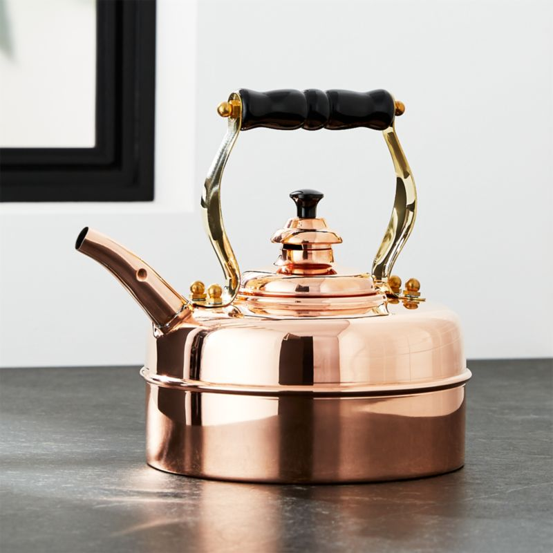 Simplex Heritage No. 1 Copper Gas/Electric Tea Kettle
