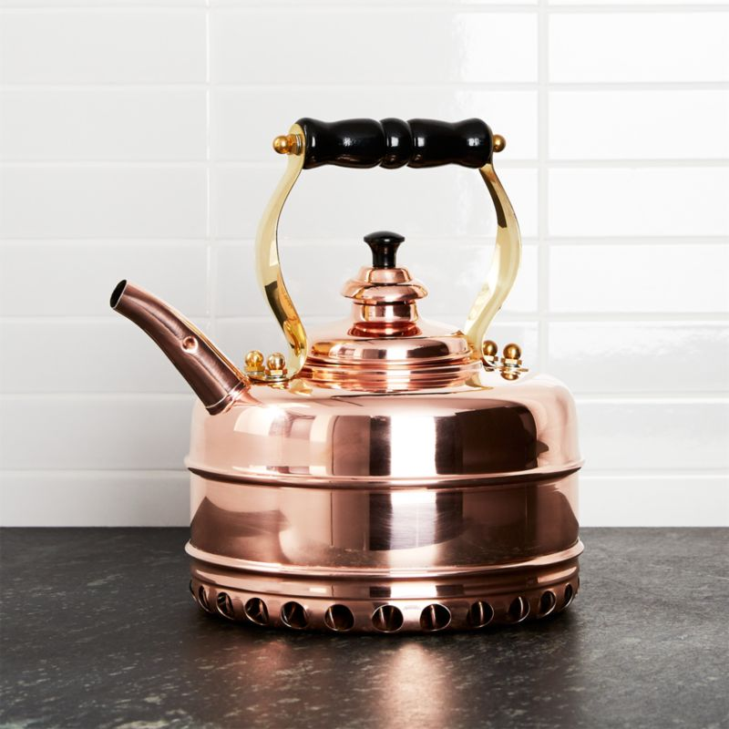 Simplex Heritage No 3 Copper Gas Tea Kettle Crate And