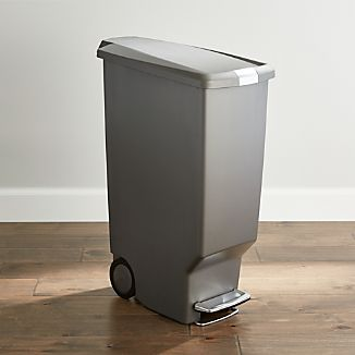 simplehuman ® Grey 40-Liter/10.5-Gallon Slim Trash Can
