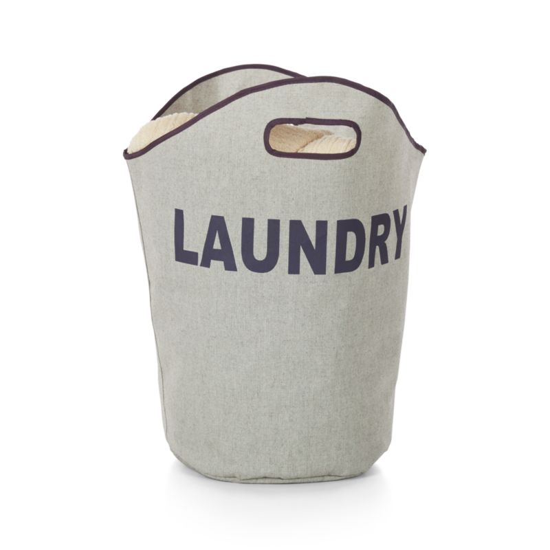 Single Load Canvas Laundry Tote
