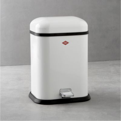 Wesco® Singleboy 3.4-Gallon White Trash Can